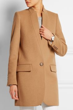 Tan wool-blend Button fastening at front 75% wool, 25% polyamide; lining1: 52% rayon, 48% cotton; lining2: 100% rayon Dry clean Designer color: Camel