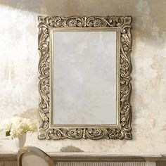 "Chateau Pewter 41"" High Wall Mirror - #00384 