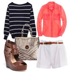 an outfit with a basic striped sweater. ^^ perfect for the spring transition if its still [kinda] cold where you are. ^^
