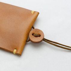 紐で絞る革のキーケース   革小物のDuram Online Shop