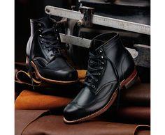 Addison 1000 Mile Wingtip Boot, Black