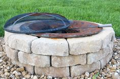DIY not-so-expensive firepit with a little help from a Lowe's guide...might try this project at my parent's house this summer.