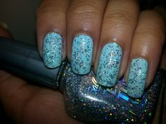 Baby blue with holo glitter! #diynails #nailart #glitter #glitternails #ilovenailart #nailartlove #nailsoftheday