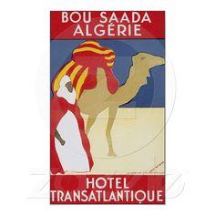 Algeria Bou Saada Travel Poster