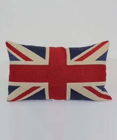 Look at this #zulilyfind! Union Jack Throw Pillow by Brentwood Originals #zulilyfinds