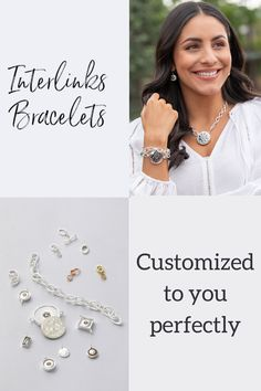design and size your bracelet with our custom interlink bracelet and necklace to create your own custom look! Purple Necklace, Yellow Earrings, White Necklace, Yellow Jewelry, Pink Jewelry, Jewelry Sets, Purple Accessories, Elegant Chic, Fashion Inspiration