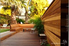 An Entertainer & His Dog — Growsgreen Landscape Design Modern Landscape Design, Modern Landscaping, Backyard Retaining Walls, Drought Tolerant Garden, Horse Fencing, Brick Path, Fire Pit Area, Rooftop Deck, Patio Dining