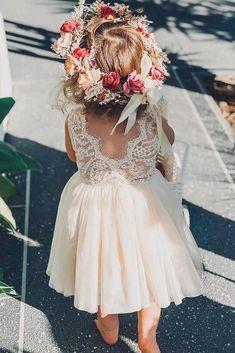 Blush Tulle Skirt, Blush Flower Girl Dresses, Boho Flower Girl, Lace Flower Girls, Tulle Dress, Girls Dresses, Wedding Flower Girls, Flowergirl Dress, Flower Girl Dresses Country