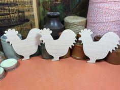 Cockerel Set 11 cm - Wooden cockerel Shape x 3, Craftshapes