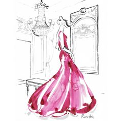 """5,868 Likes, 47 Comments - Kerrie Hess Illustrator (@kerriehessillustration) on Instagram: """"Always wishing that I owned the dresses that I'm painting...❤ @dorchestercollection @lemeuriceparis"""""""