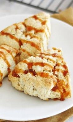 Scones are a nice change of pace from traditional breakfast pastries, and they don't have to be fussy! The from-scratch caramel sauce complements fresh apples and pears, while a hint of sea salt brings out the sweetness. Pro tip: Don't overknead the dough. Just a few turns is fine; it won't be completely smooth!