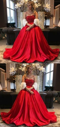 modest red sweetheart prom dresses with beading, gorgeous beading bodice evening gowns, simple a line party dresses with pleats P2589