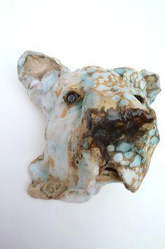 dog ceramic sculpture by GoatAndHisGoldfish
