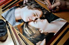 The Fault In Our Stars Prismacolor Coloured Drawing By Heather Rooney