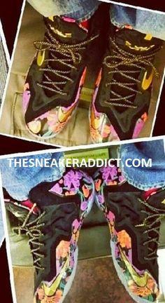 "Lebron James 1 of 1 Nike Lebron 11 XI ""Floral"" PE Sneaker (Images)"