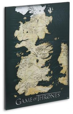 Carte en toile Game of Thrones