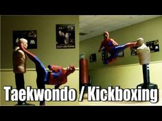 ▶ SPIDER-MAN Taekwondo | Kickboxing (original) - YouTube Pretty dope. Members should come wearing their favorite superhero costumes tho I have a hard time seeing the hulk doing those acrobating moves