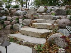 outcropping stone steps