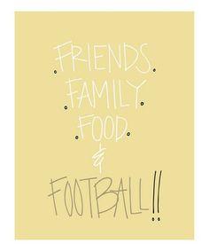 FOOTBALL! FOOTBALL! FOOTBALL!