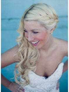 What about a braid on the side, like this?