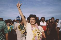 17 of History's Most Rebellious Women | Corazon Aquino, the Philippines When Corazon Aquino's senator husband was assassinated in 1983, Aquino ran against 20-year autocrat Ferdinand Marcos in his stead. Though Marcos claimed victory, Aquino led a peaceful revolution across the nation of impoverished islands. Aquino became President of the Philippines upon Marcos' resignation. (Willia Vicoy— Reuters/Corbis)