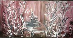 Michal Tejgi akrylové barvy 60 x 30 cm 1250 Kč Online Galerie, Trees Online, Red Tree, Origami, Glass Vase, Gallery, Home Decor, Interior Design, Home Interiors