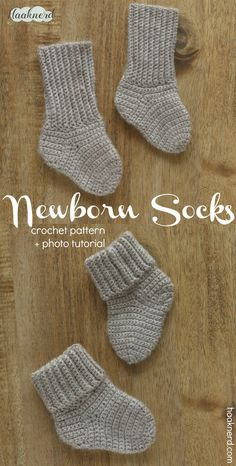 Free step-by-step crochet pattern with photo tutorial for baby socks. via @haaknerd