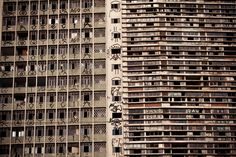 Pixação en edificio de Sao Paulo.