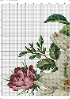 This Pin was discovered by Ali Needlepoint Patterns, Counted Cross Stitch Patterns, Cross Stitch Charts, Cross Stitch Designs, Cross Stitch Embroidery, Cute Cross Stitch, Cross Stitch Rose, Cross Stitch Flowers, Floral Bouquets
