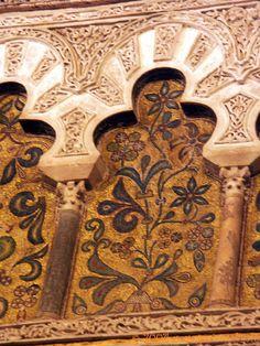 Motifs floraux rajoutés, Mezquita Cordoba , España, Andalucia