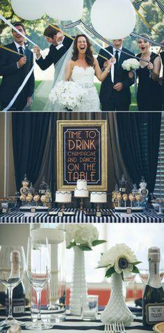 Classic Black + White Country Club Wedding