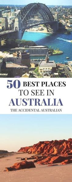 50 Best Places to See in Australia- Let's Get Exploring! Here's a list of 50 of the best places to see in Australia Brisbane, Sydney, Melbourne, Australia Holidays, Visit Australia, Australia Trip, Western Australia, Places To Travel, Places To See