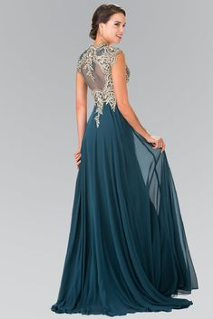 Style Number: GLS 2229 Chiffon Skirt Sweetheart Neckline Illusion Embroidered Bodice with Cap Sleeves Available in Black, Burgundy, Champagne and Teal Mother Of The Bride Dresses Long, Chiffon Skirt, Gown Skirt, School Dresses, Evening Dresses, Prom Dresses, A Line Gown, Bride Gowns, Formal Gowns