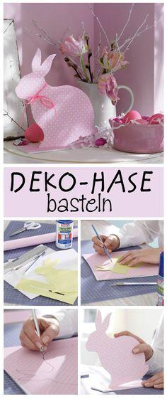 Dieser Deko-Hase gelingt ganz ohne Säge – denn er ist aus Schaumkarton gemacht. Wir zeigen, wie du die Oster Dekoration selbst machen kannst.