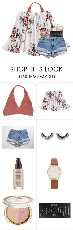 """""""every moment matters."""" by kyliegrace ❤ liked on Polyvore featuring Youmita, Smashbox, Kate Spade, Too Faced Cosmetics, Kat Von D and Gap"""