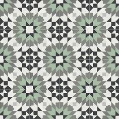 Rustico Tile & Stone Casablanca Encaustic x Cement Field/Patterned Tile in Black/Turquoise (Set of Best Floor Tiles, Wall And Floor Tiles, Wall Tiles, Cement Walls, Concrete Tiles, Concrete Patio, Stone Tiles, Spanish Tile, Encaustic Tile