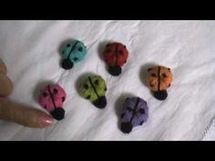 Video tutorial para hacer las mariquitas a partir de un botón tejido en crochet!