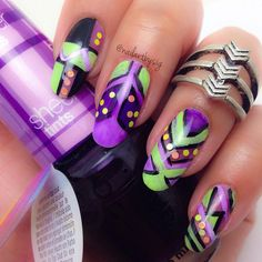 Nail Art From Instagram: Psychedelic Prints | Beauty High