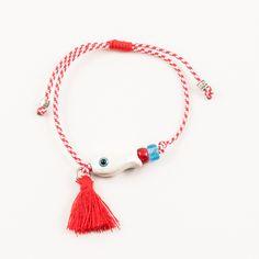 Αποτέλεσμα εικόνας για μαρτης βραχιολι Fabric Bracelets, Macrame Bracelets, Handmade Bracelets, Tassel Necklace, Handmade Jewelry, Evil Eye Bracelet, Macrame Patterns, Girls Jewelry, Handmade Accessories