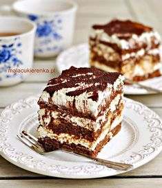 Kliknij, by zamknąć Sweet Desserts, Sweet Recipes, Delicious Desserts, Cake Recipes, Dessert Recipes, Yummy Food, Polish Recipes, Russian Recipes, Healthy Sweets
