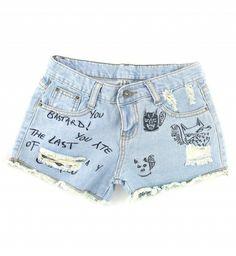"ALL SIZES ""SPARK"" Vintage Levi high-waisted denim shorts light blue studded distressed frayed jeans. Denim Cutoff Shorts, Denim Pants, Waisted Denim, Jean Shorts, Women's Shorts, Blue Shorts, Rock Revival Shorts, Venus Swimwear, Retro Shorts"