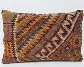 kilim pillow lumbar sofa pillow case 16x24 aztec pillow cover sofa pillow sham crochet throw pillow garden pillow cover lumbar pillow 26999