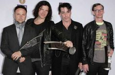 The German band Rammstein poses with its awards during for the Echo award 2011 <> at Palais am Funkturm on March 24, 2011 in Berlin, Germany. Photo: Andreas Rentz, Getty Images / 2011 Getty Images