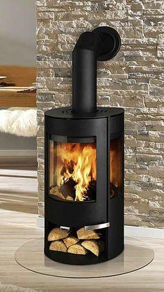 Wood burning fireplace corner log burner ideas for 2019 Corner Log Burner, Wood Burning Stove Corner, Modern Wood Burning Stoves, Corner Stove, Modern Wood Burners, Wood Stoves, Farmhouse Fireplace, Stove Fireplace, Fireplace Design