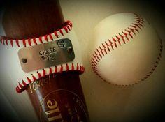 Baseball Mom Bracelet, Custom Made ! Hand Stamped With Name & Number! Team Mom!
