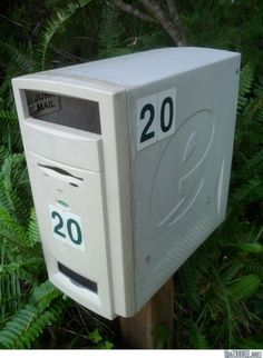 Recycled Computer Mailbox **NO INSTRUCTIONS, JUST INSPIRATION**