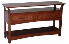 Amish Bunker Hill Two Drawer Sofa Table