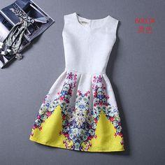 Women Summer Style Dress Vintage Plus Size Female