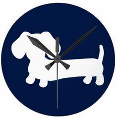 Navy Dachshund Wall Clock – The Smoothe Store