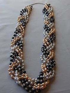 DYI pearl braided necklace (not truly a DIY style website)